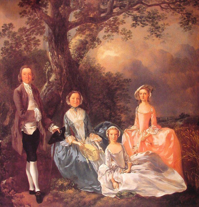 Mr. and Mrs. John Gravenor and their Daughters, Elizabeth and Ann  - Thomas Gainsborough