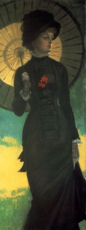 Mrs. Newton with a Parasol - James Tissot