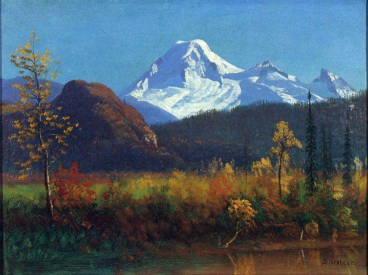 Mt. Rainier from the Southwest - Albert Bierstadt