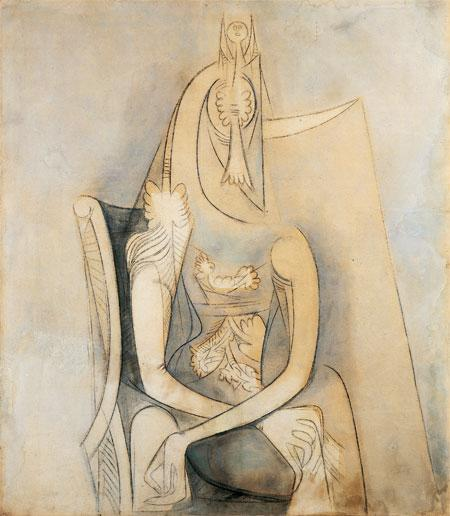 Mujer sentada - Wifredo Lam