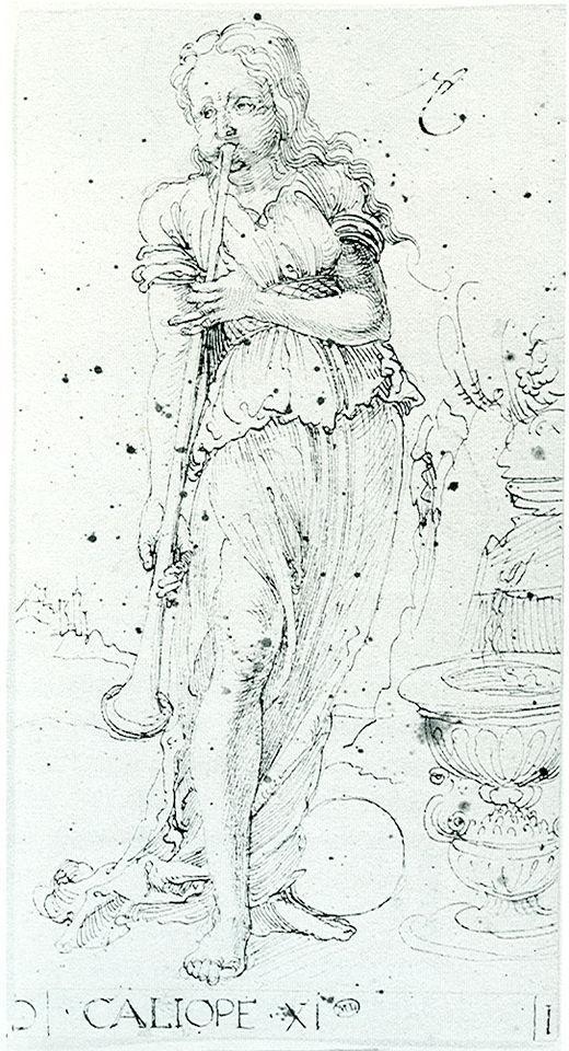 Muse Calliope - Albrecht Durer
