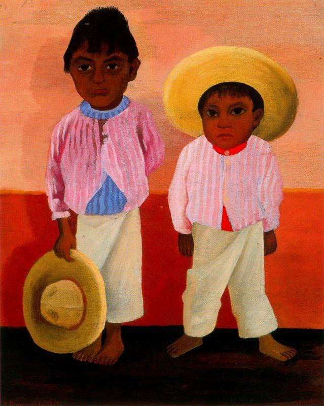 My Godfather's Sons (Portrait of Modesto and Jesus Sanchez) - Diego Rivera