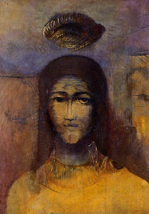 Mysterious Head - Odilon Redon