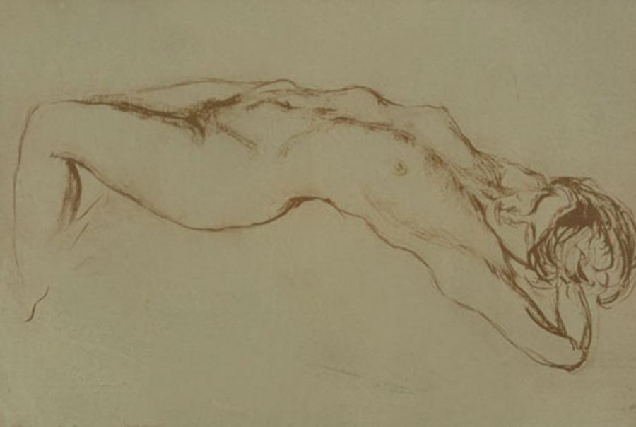 Naked female form - Alekos Kontopoulos
