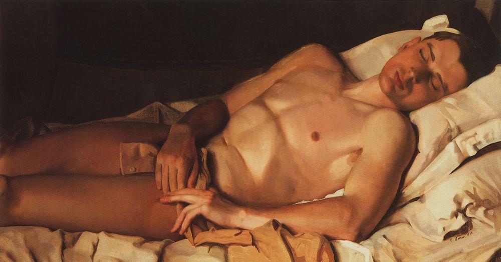 Naked Young Man (B. Snezhkovsky) - Konstantin Somov