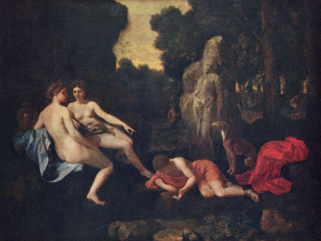Narcissus and Echo - Nicolas Poussin