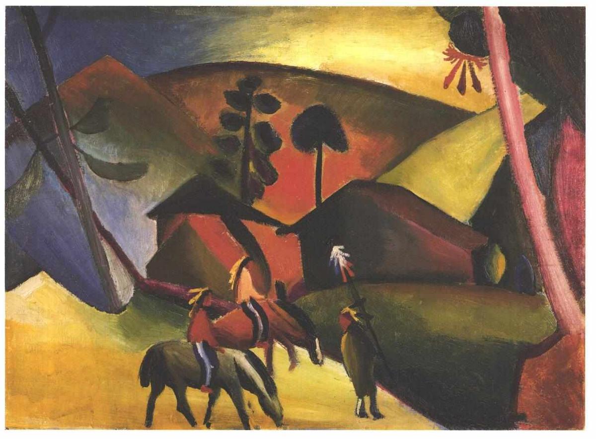 Native Aericans on horses - August Macke