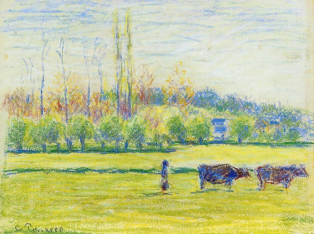 Near Eragny - Camille Pissarro