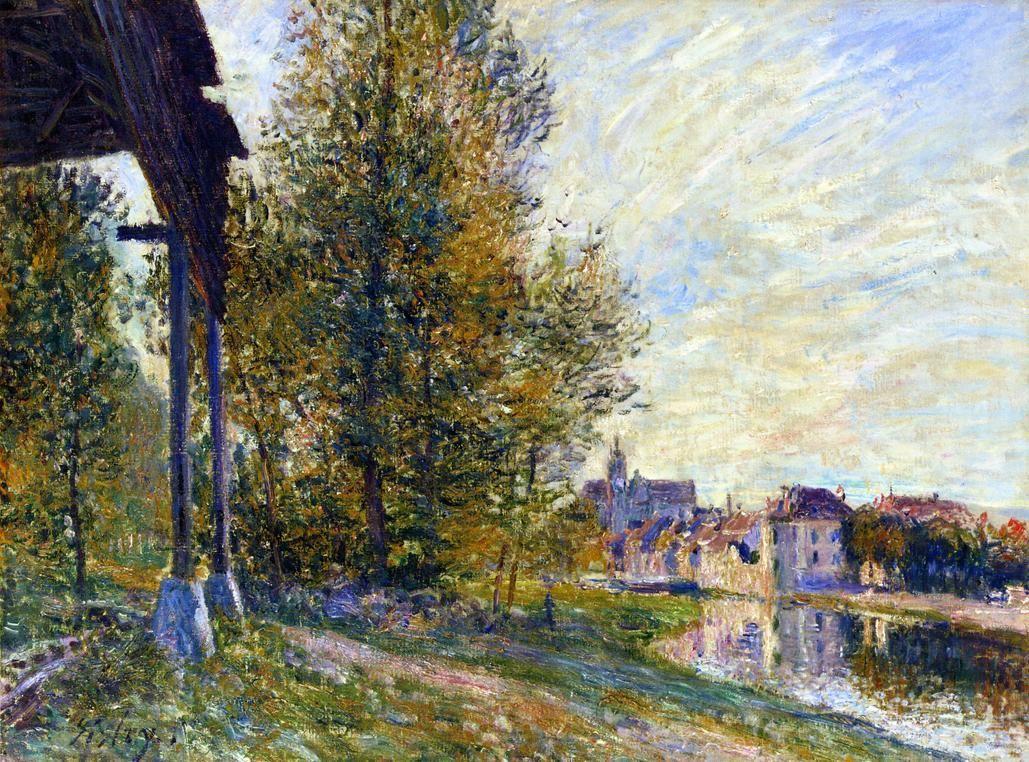 Near Moret sur Loing - Alfred Sisley