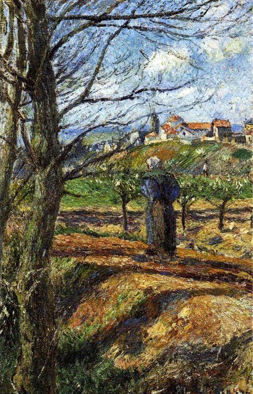 Near Pontoise - Camille Pissarro