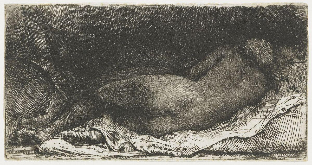 Negress lying down - Rembrandt