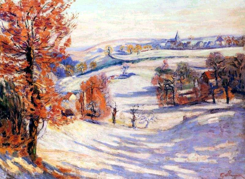 Neige a Crozant - Armand Guillaumin