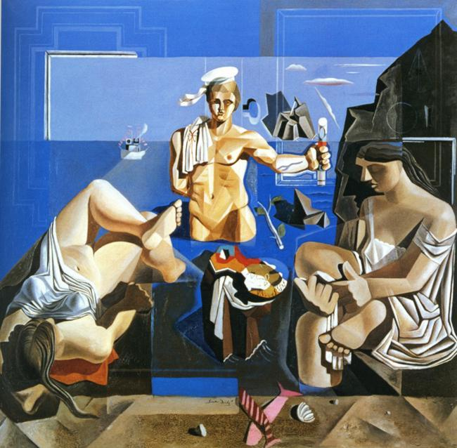 Neo-Cubist Academy (Composition with Three Figures) - Salvador Dali