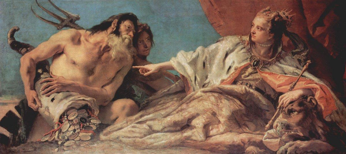 Neptune Offering Gifts to Venice - Giovanni Battista Tiepolo