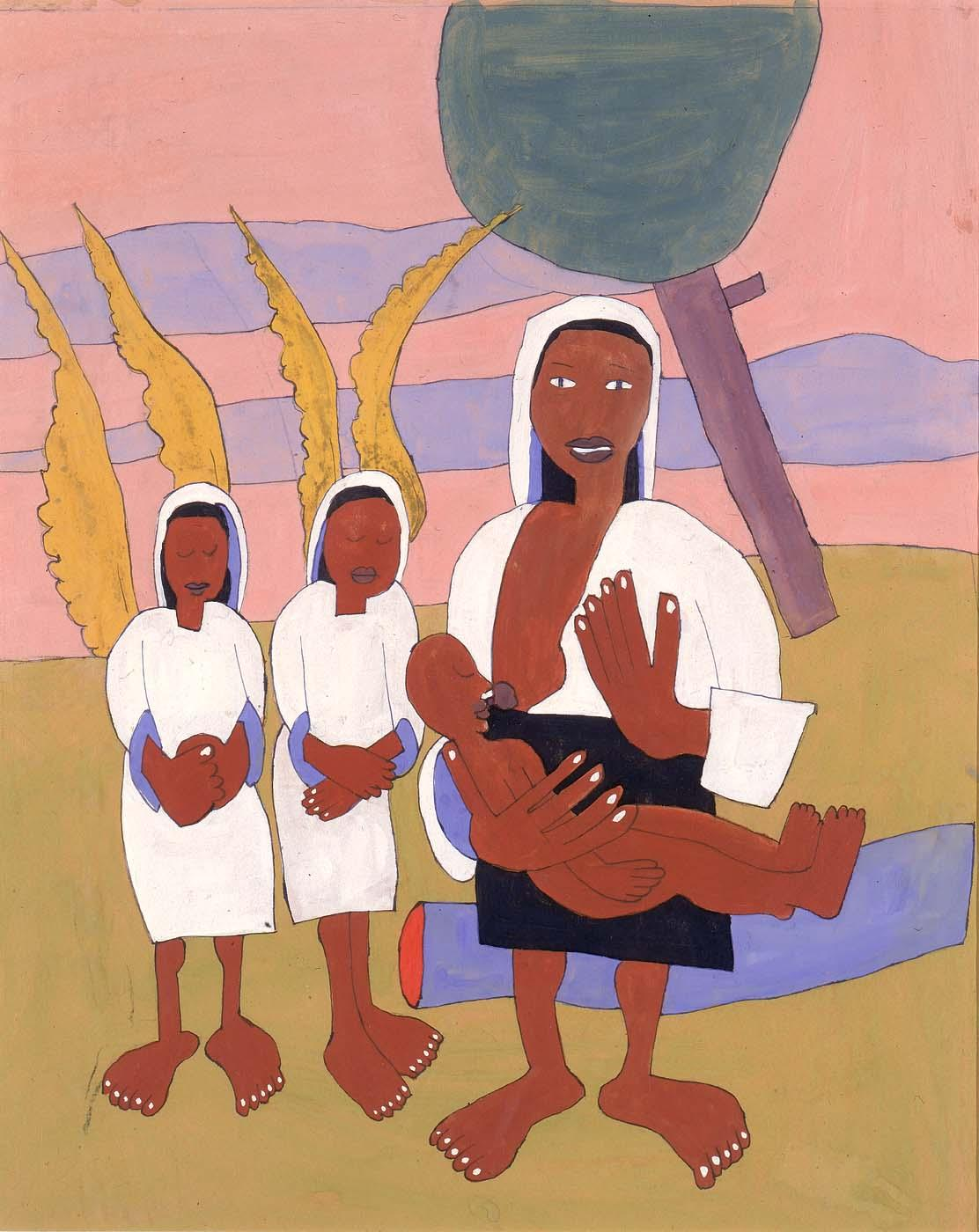 New Born Babe - William H. Johnson