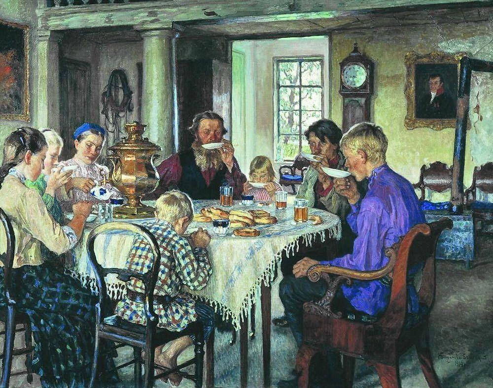 New Owners (Tea-Drinking) - Nikolay Bogdanov-Belsky
