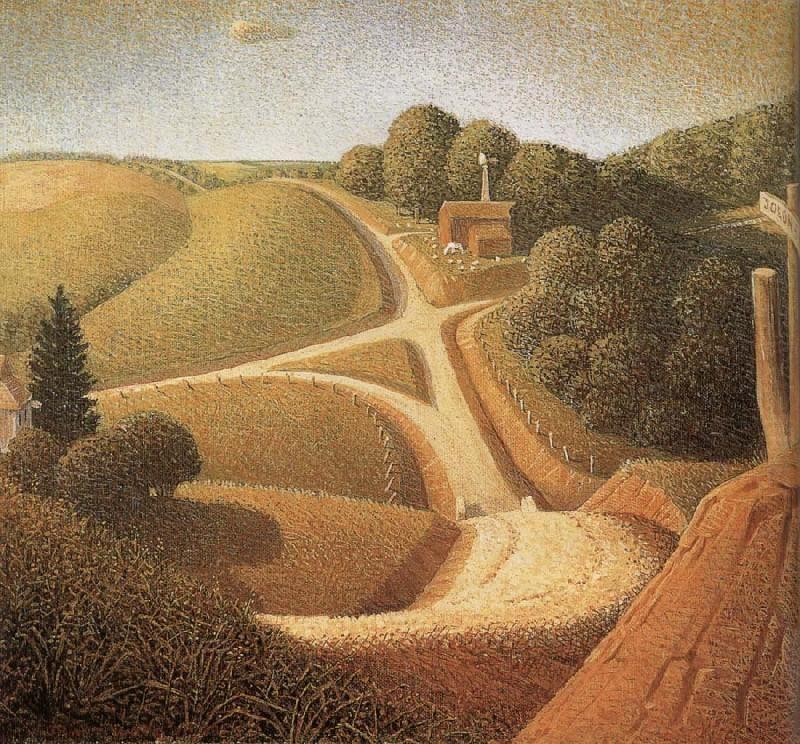New Road  - Grant Wood