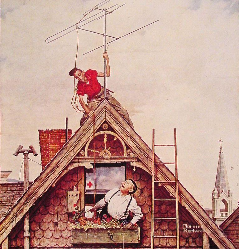 New Television Antenna - Norman Rockwell