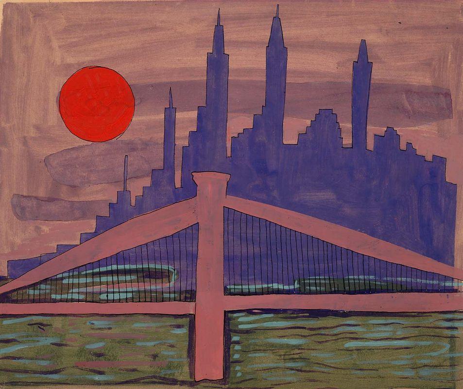 New York Skyline at Night - William H. Johnson