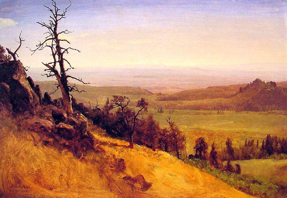 Newbraska Wasatch Mountains - Albert Bierstadt