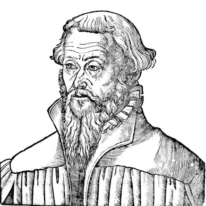 Nicholaus Gallus, a Lutheran theologian and reformer - Lucas Cranach the Elder
