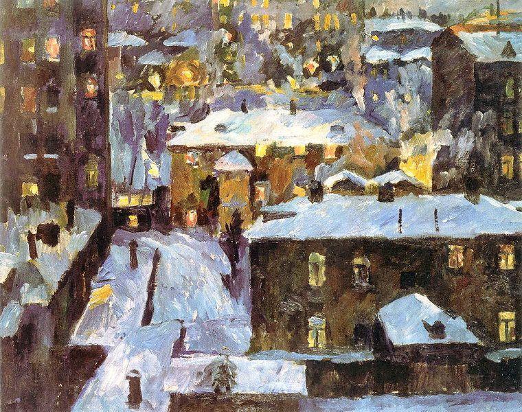 Night at Patriarch's Ponds - Aristarkh Lentulov