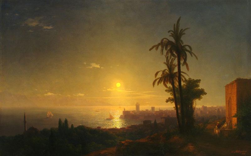 Night at the Rodos island - Ivan Aivazovsky