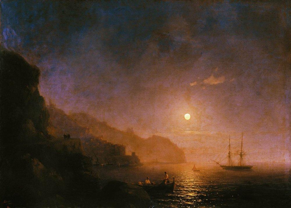 Night in Amalfi  - Ivan Aivazovsky