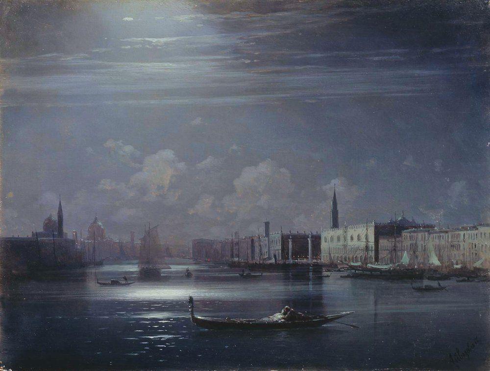 Night landscape. Venice - Ivan Aivazovsky