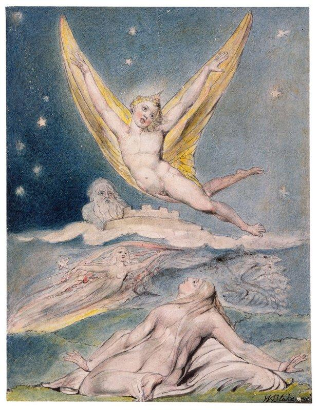 Night Startled by the Lark - William Blake