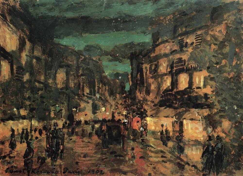 Night street.Paris - Konstantin Korovin