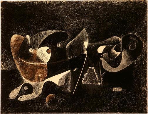 Night-time, Enigma, and Nostalgia - Arshile Gorky
