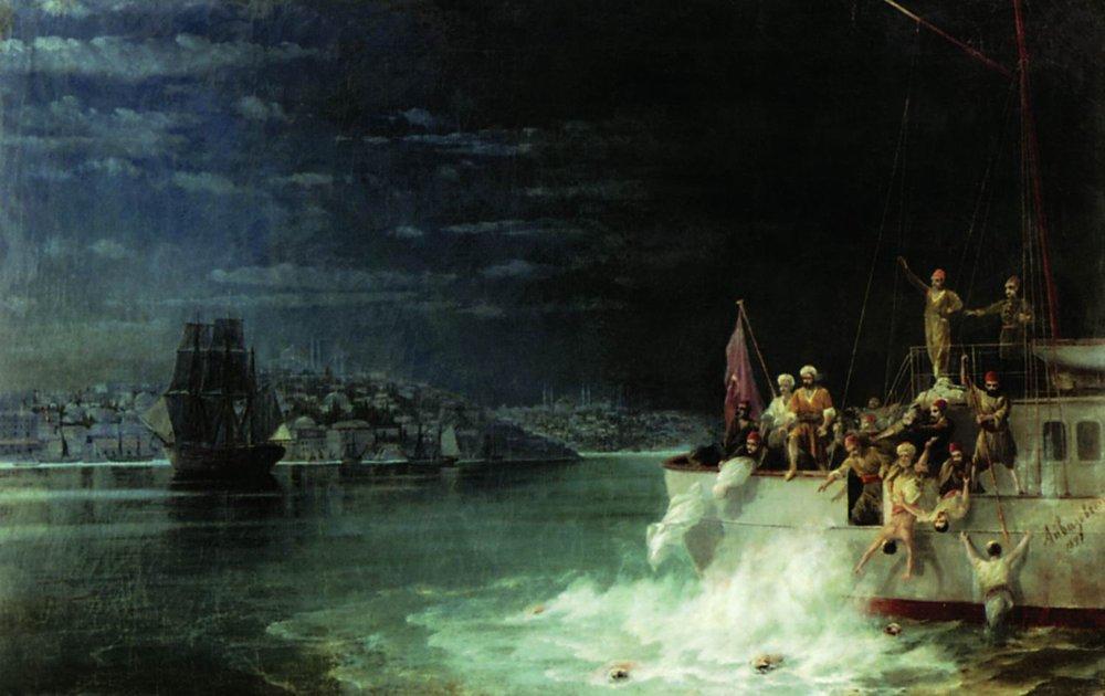 Night. Tragedy in the Sea of Marmara - Ivan Aivazovsky