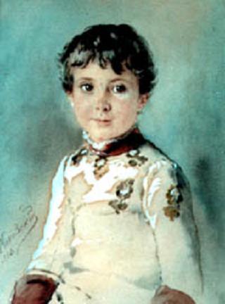 Niko Dadiani Baby - Konstantin Makovsky