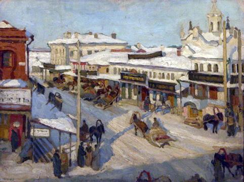 Nizhny Novgorod in Winter - Konstantin Yuon