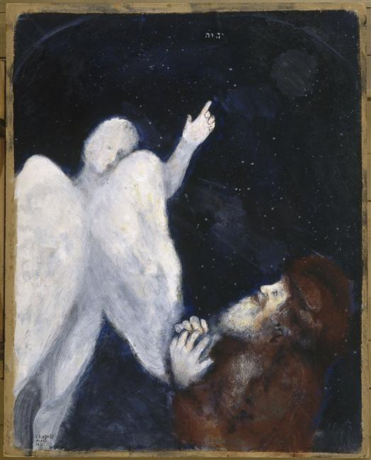 Noah receives the order to build the Ark - Marc Chagall