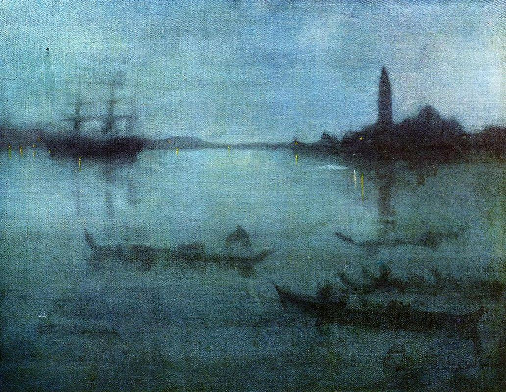 Nocturne in Blue and Silver, The Lagoon, Venice - James McNeill Whistler