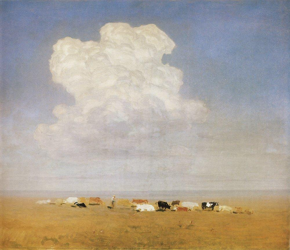 Noon. Herd in the steppe - Arkhip Kuindzhi