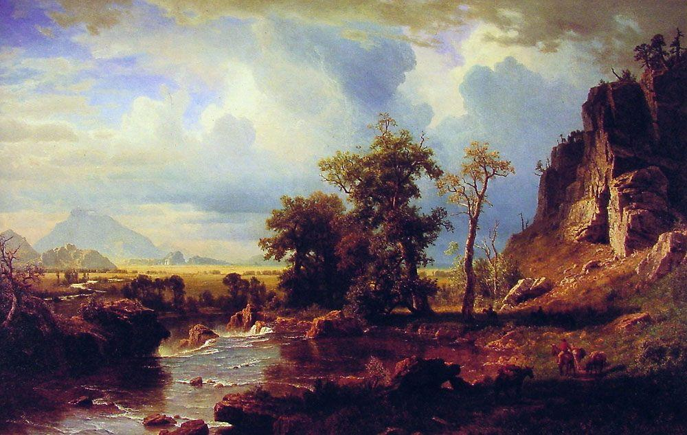 North Fork of the Platte Nebraska - Albert Bierstadt