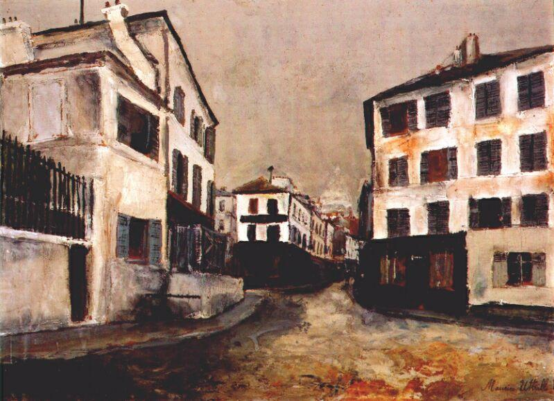 Norvins street - Maurice Utrillo