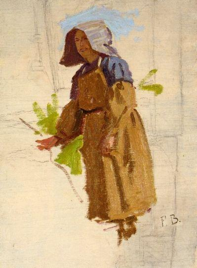 Grape Picker in a Cap I - Frederic Bazille
