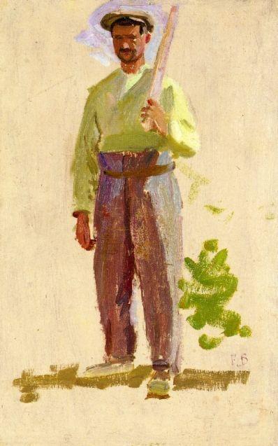 Grape Picker in a Cap - Frederic Bazille