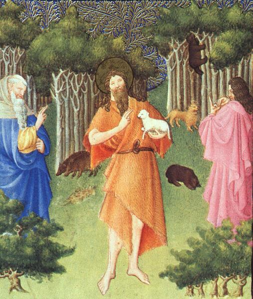 St. John the Baptist in the Wilderness - Limbourg brothers
