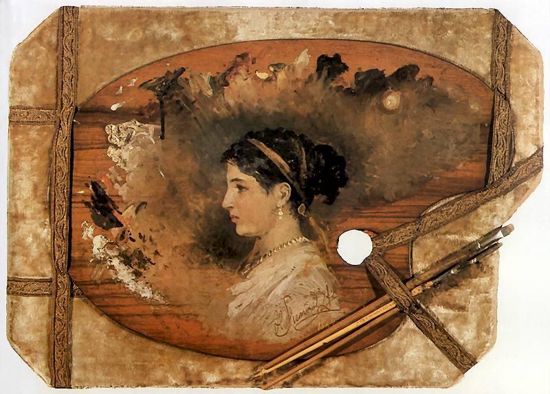 Portrait of a woman on a pallet - Henryk Siemiradzki