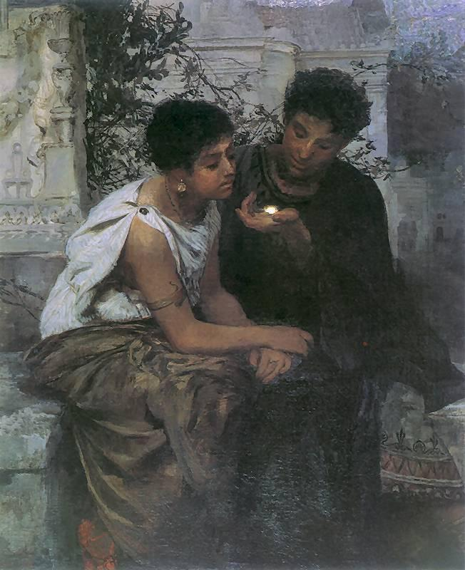Night in Pompeii - Henryk Siemiradzki