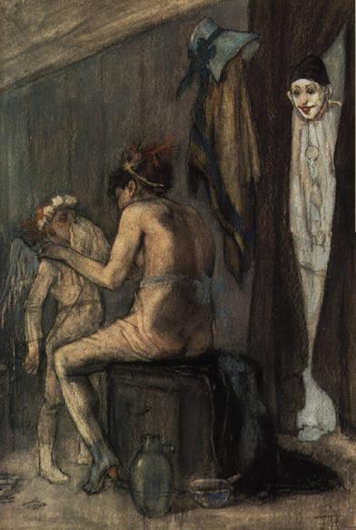 Venus and Cupid - Felicien Rops