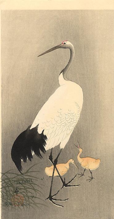 Red crowned Crane - Ohara Koson
