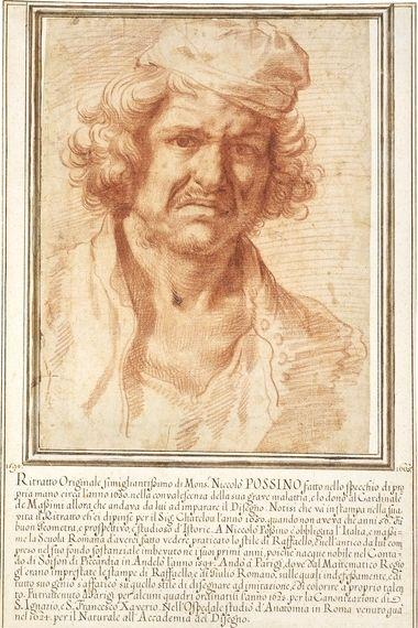 Self-portrait of Nicolas Poussin from 1630, while recovering from a serious illness - Nicolas Poussin