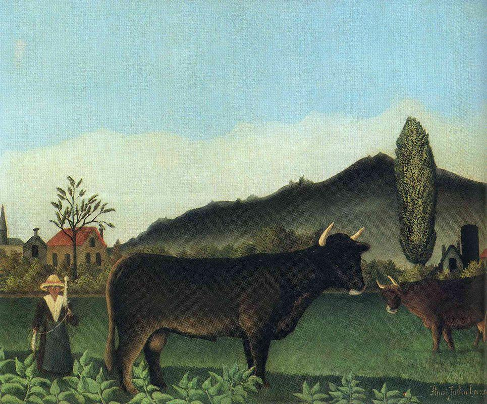 (Landscape with cow) - Henri Rousseau