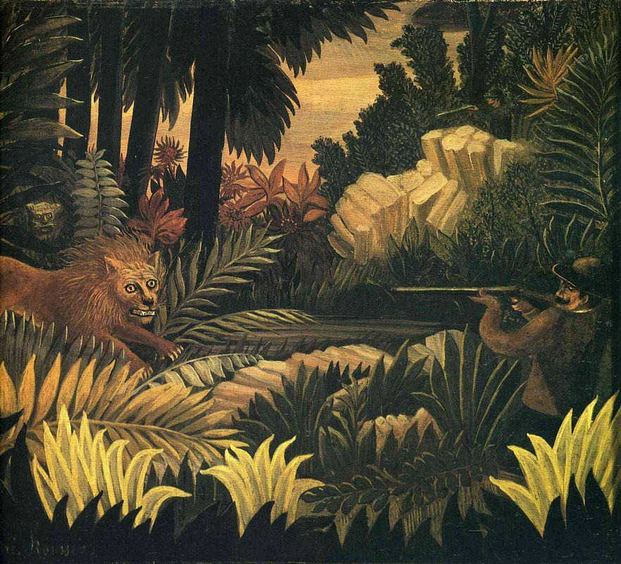 The Lion Hunter - Henri Rousseau